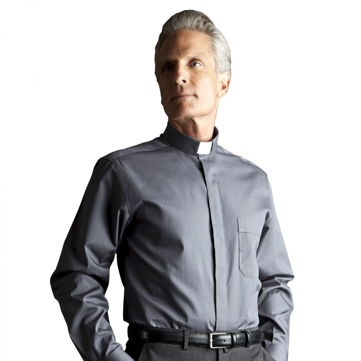 Camicia Clergy manica lunga misto cotone - art. 151