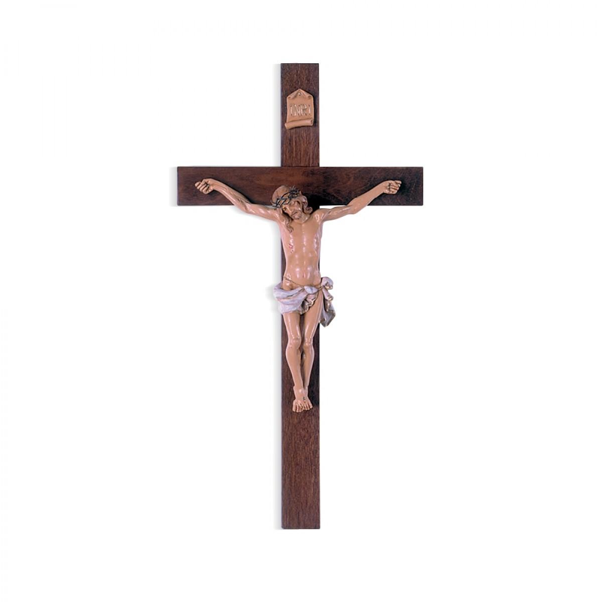 Crocifisso con corpo tipo legno - art. 170/1