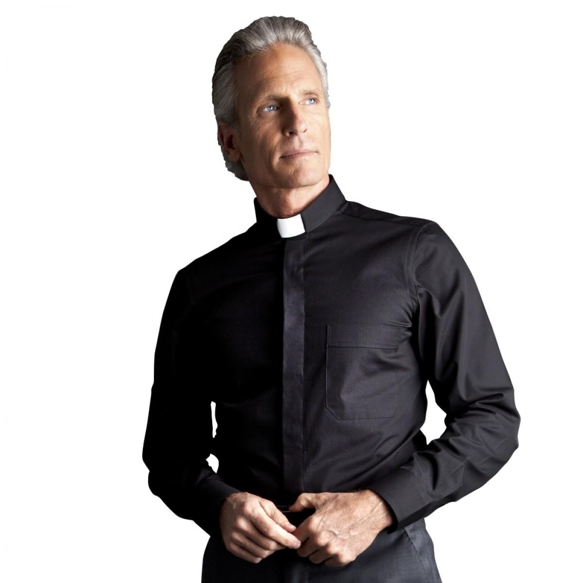 Camicia Clergy SLIM a manica lunga cotone stretch - art. 224